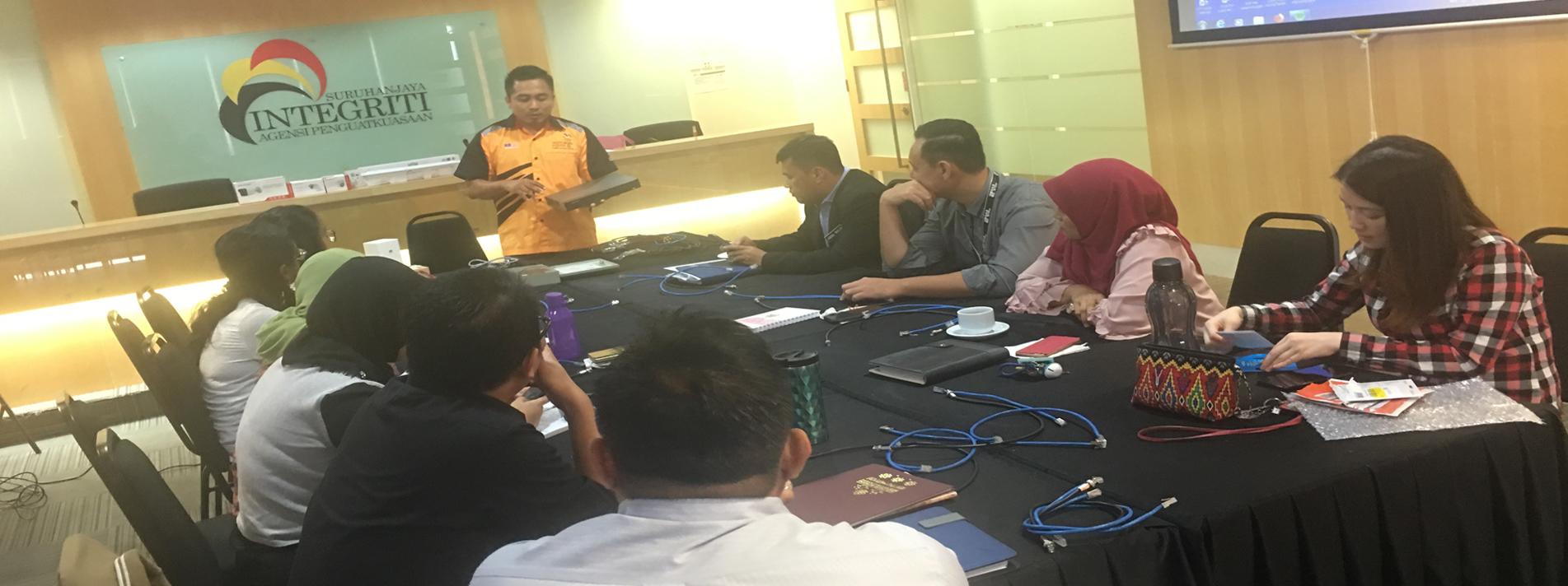 Kursus CCTV : Peserta terdiri daripada pengajar IKBN dan IKTBN